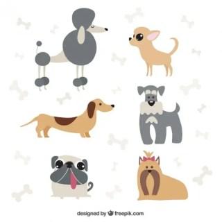 Dog Cartoons Pack Free Vector