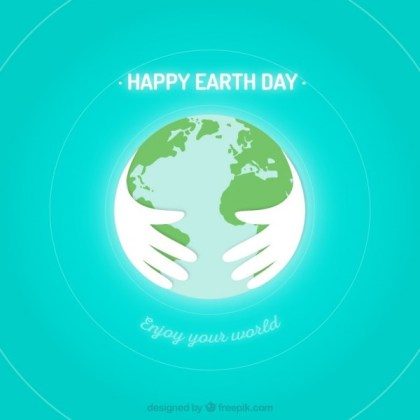 Earth Protected By Hands Free Vector