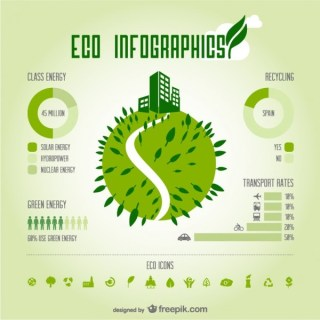 Eco Green Infography Free Vector