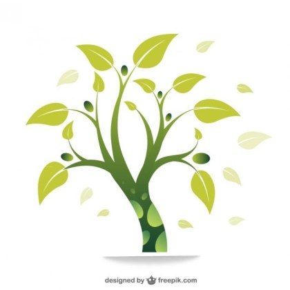 Eco Green Tree Free Vector