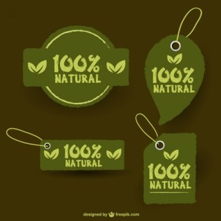 Eco Retro Stickers Free Vector