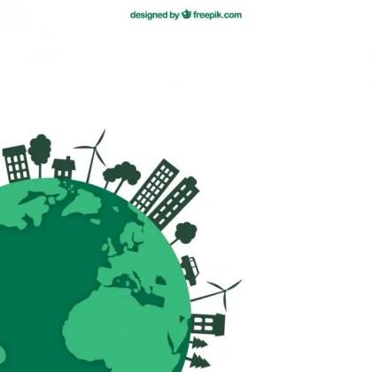 Ecological Earth Concept Free Vector