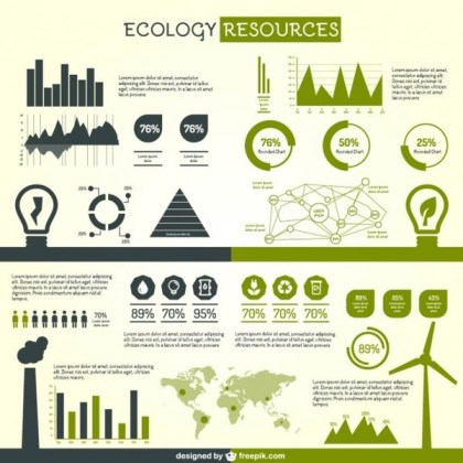 Ecology Graphic Elements for Infography Free Vector