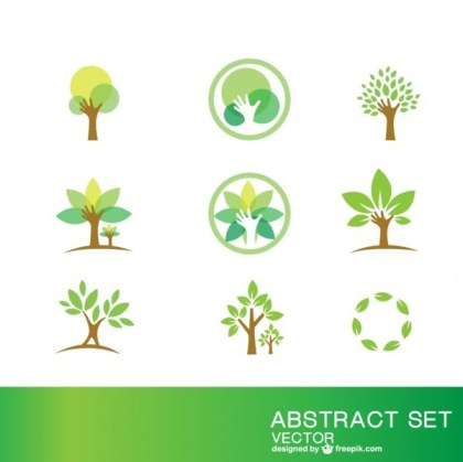 Ecology Symbols Set Free Vector