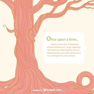 Fairy Tale Tree Template Free Vector