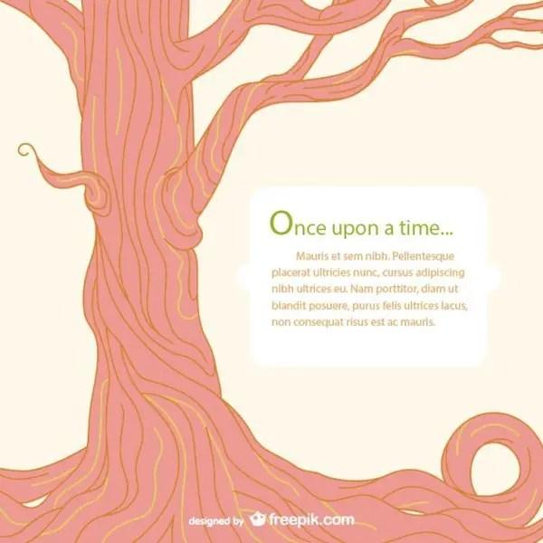 Fairy Tale Tree Template Free Vector