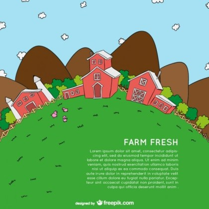 Farm Cartoon Template Free Vector