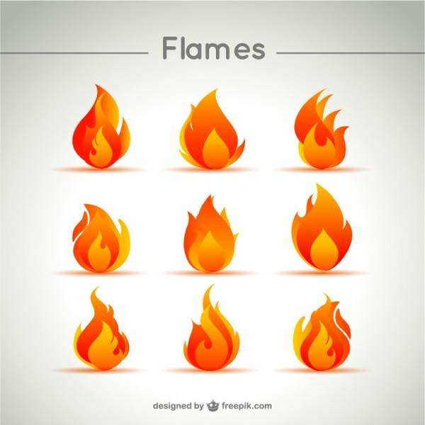 Flame Icon Free Vector