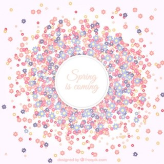 Floral Background for Spring Free Vector