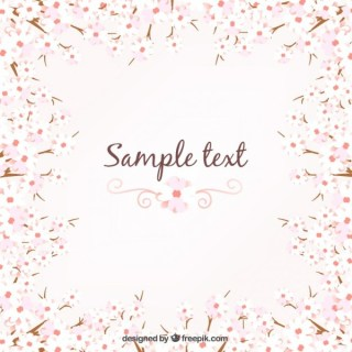 Floral Background in Spring Style Free Vector
