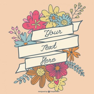 Floral Banner Hand-Drawn Design Free Vector