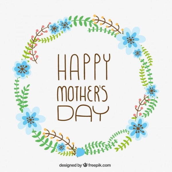 Floral Card for Mothers Day Free Vector