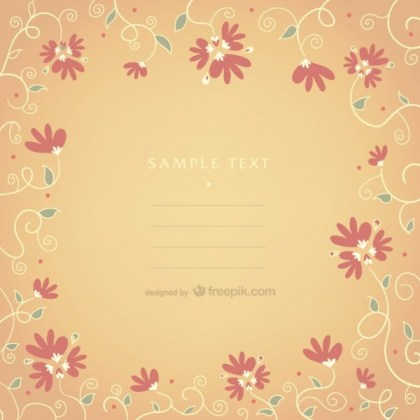 Floral Frame with Text Space Free Vector