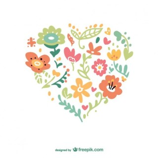Floral Heart Free Vector