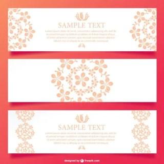 Floral Ornamental Banner Design Free Vector