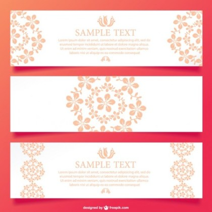 Floral Ornamental Banner Design Free Vector