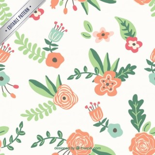 Floral Pattern in Spring Style Free Vector