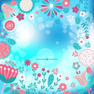 Floral Spring Image Free Vector