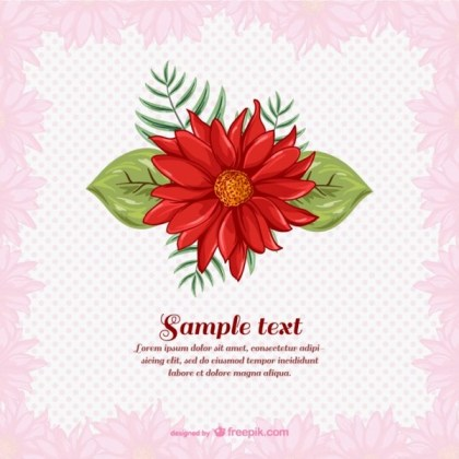 Floral Spring Template Free Vector