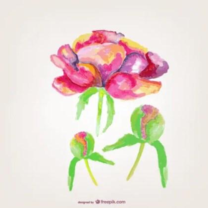 Flower Greetings Card Free Vector