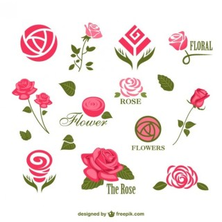 Flower Logos Templates Free Vector