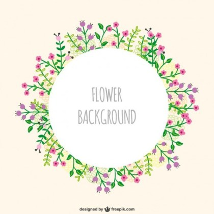 Flowers Frame Free Vector