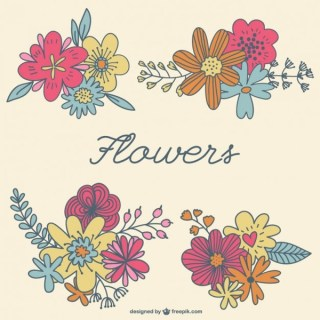 Flowers Graphic Elements Free Vector