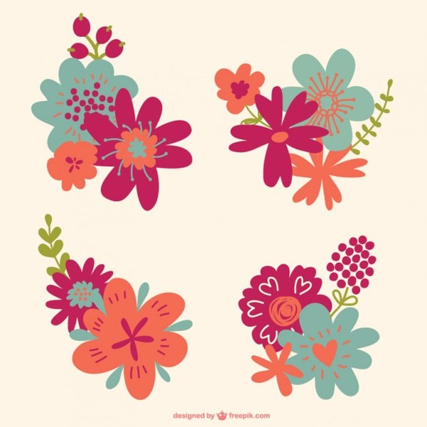 Flowers Graphics Download Free Vector