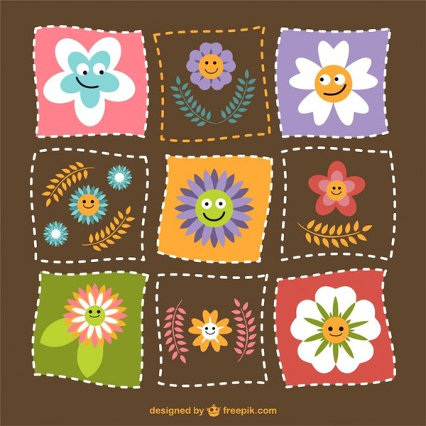 Funny Flowers Download Free Vector