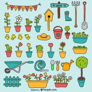 Garden Elements Pack Free Vector