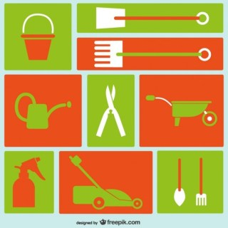Gardening Tools Icons Free Vector