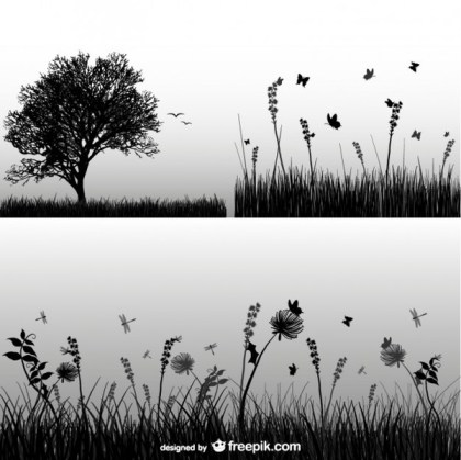Grass Silhouette Free Vector