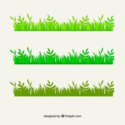 Green Grass Border Free Vector