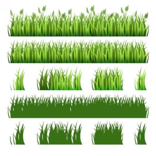 Green Grass Pack Free Vector
