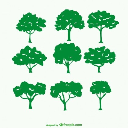 Green Tree Silhouette S Free Vector