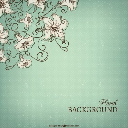 Grunge Floral Background Free Vector