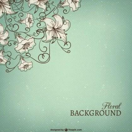 Grunge Floral Background Free Vector