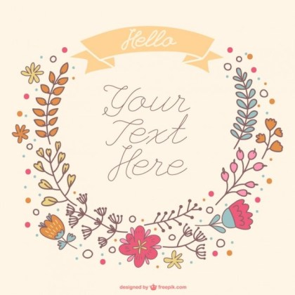 Hand-Drawn Floral Wreath Free Vector