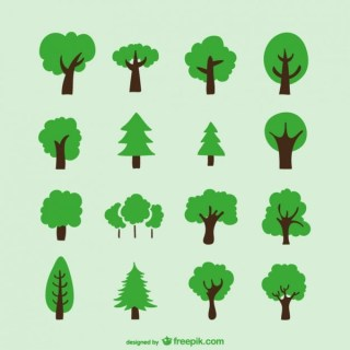 Hand Drawn Trees Free Vector