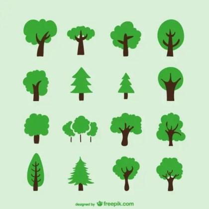 Hand Drawn Trees Free Vector