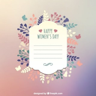 Happy Women's Day Greeting Card Template Free Vector