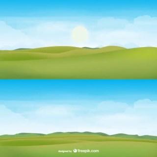 Horizon Landscape Free Vector