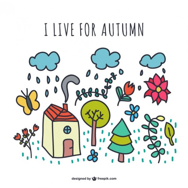 I Live for Autumn Free Vector