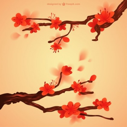 Japanese Flowers Free Vector