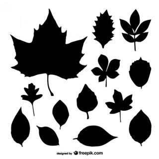 Leaf Silhouette Art Free Vector