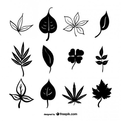 Leaves Silhouettes Download Free Vector