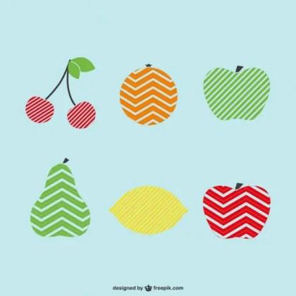 Logo Fruits Template Set Free Vector