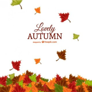 Lovely Autumn Background Free Vector
