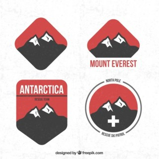 Mountain Badges Free Vector