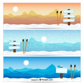 Mountain Landscapes Free Vector